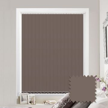 Made to measure vertical blinds in Splash Portobello  plain fabric
